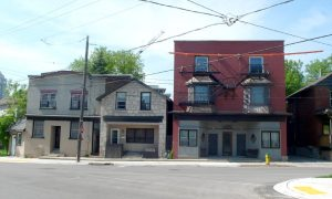 Stone and brick storefronts