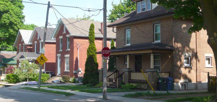 Edwardian streetscape on Toronto Street, Guelph