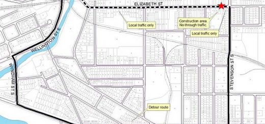 Map of the Elizabeth street closure starting May 27
