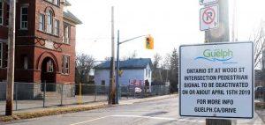 Ontario street pedestrian crossing at Wood Street
