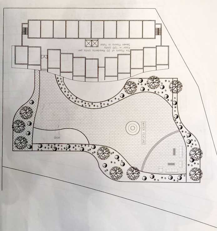 A plan of the Villa Biancini proposal