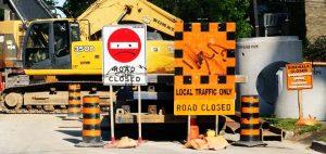 Construction on Neeve Street at Ontario