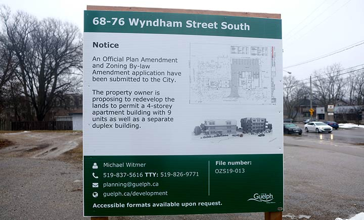 68-76-Wyndham-South Development permit application sign