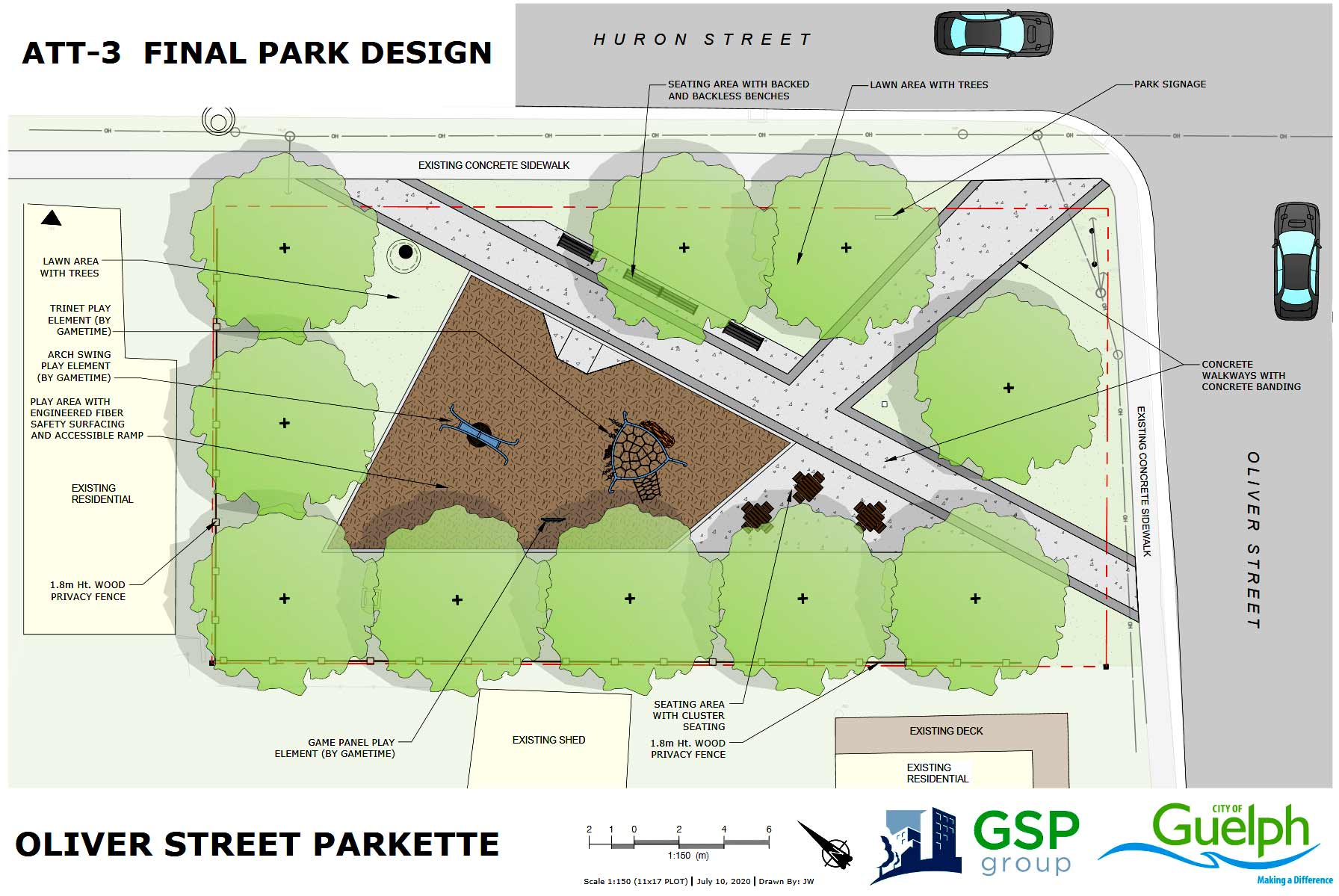 Final Design of the Oliver Street parkette