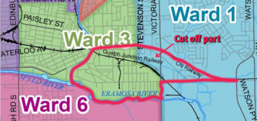 Traditional Saint Patrick's Ward boundary superimposed on option 8-1