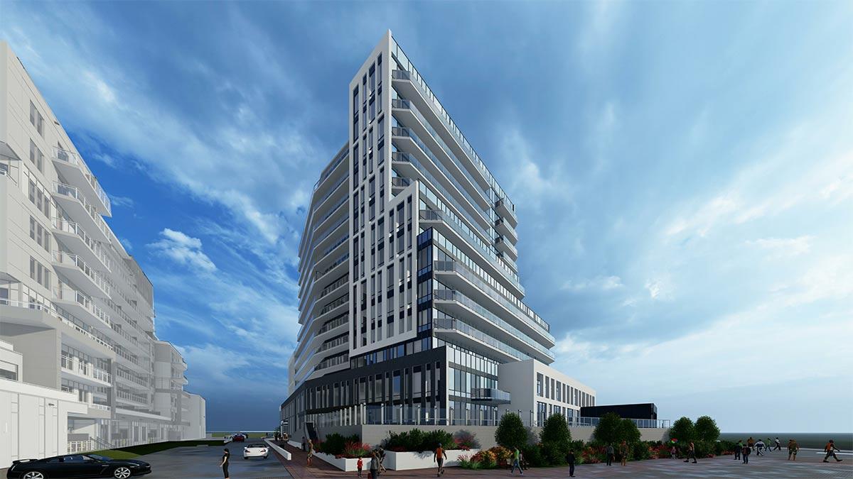 93 Arthur Street artists impression of a 14 story angular tower