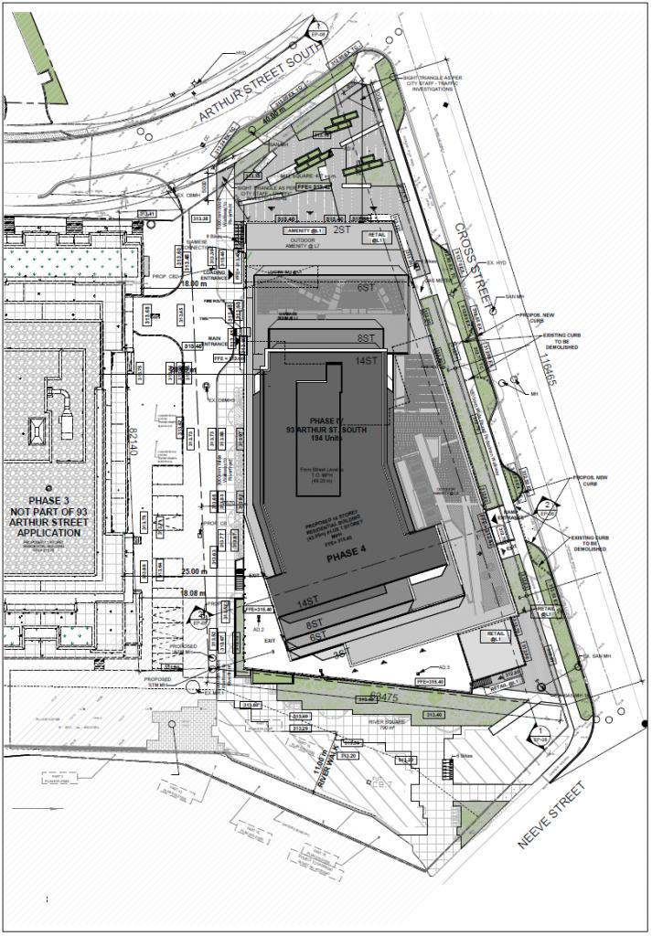 Site plan of 93 Arthur Street